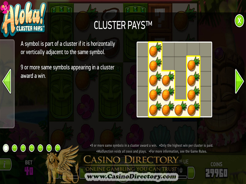 Play Aloha! Cluster Pays Slots at Casino.com New Zealand