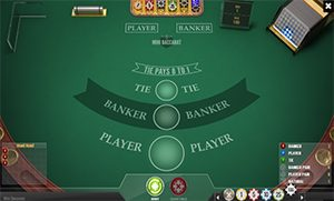 Mini-Baccarat is a simpler and faster version of Baccarat played at a smaller table.